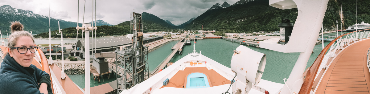 Guide to first time cruising for Disney Cruises and for those afraid to cruise. Family photo on the Disney Wonder in Alaska